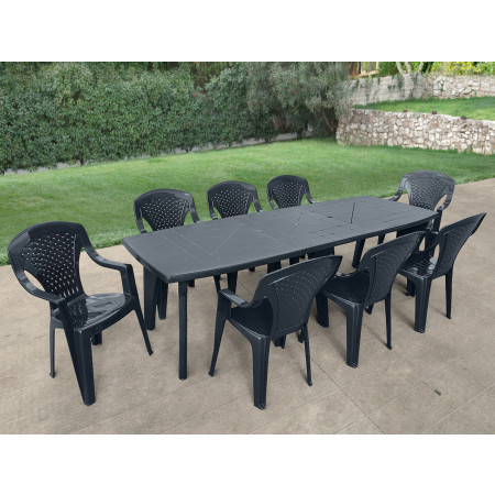 TABLE 250 X 90 LIPARI 2 ANTHRACITE