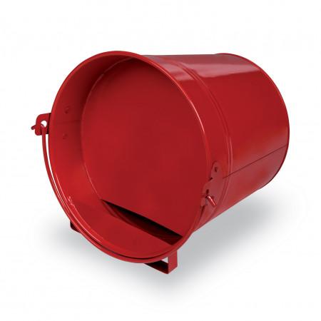 Abreuvoir seau métal rouge 4L