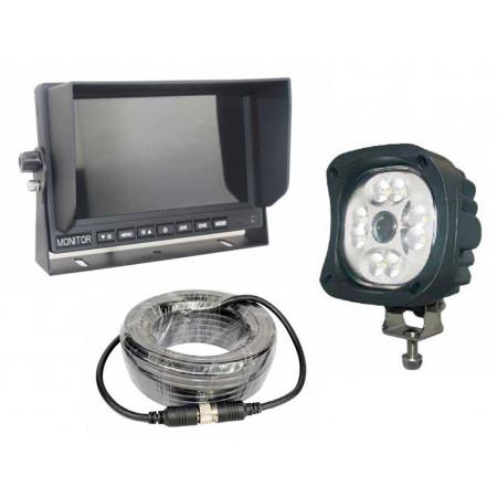 Kit de rétrovision 2 en 1 avec phare et caméra intégrée