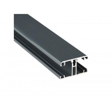 Kit jonction profil T + capot gris L.4m