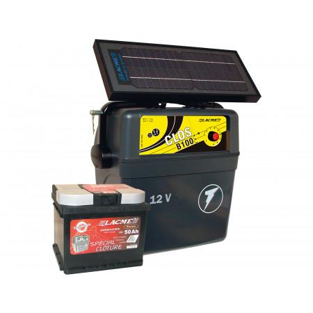 Kit solaire 1J B100 Solis + accu 50 Ah + panneau 6 W