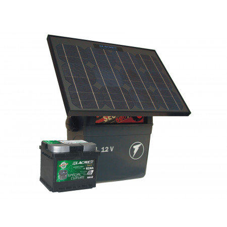 Kit solaire 5J Sécur 500 + accu 62 Ah + panneau 25 W