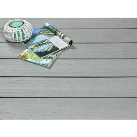 Lame de terrasse bois composite SYLWAY Premium gris 2,40m