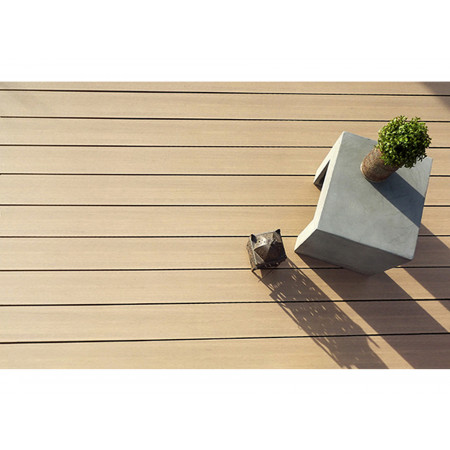 Lame de terrasse Coextrudée 300x16,1cm Moka lisse