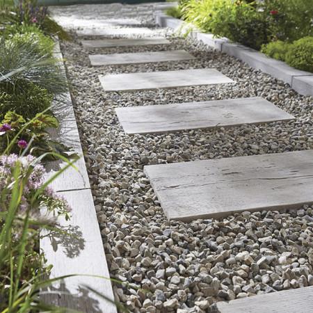 Lame pierre reconstituée planche bois 100x20cm