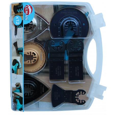 Coffret 12 accessoires multi-matériaux LEMAN