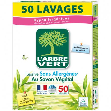 Lessive poudre 2,5kg 50 lavages L'ARBRE VERT