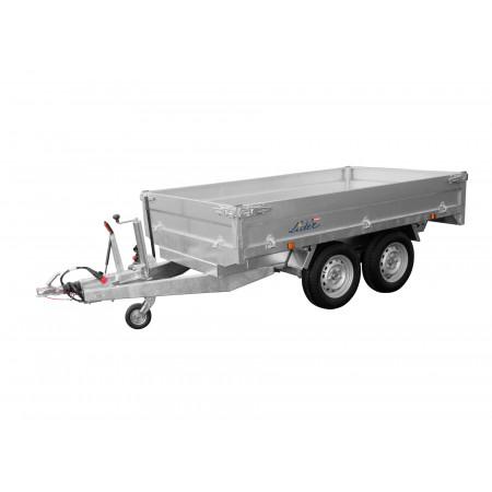 Remorque benne LIDER PTAC 2x1300kg + pompe élec de basculement