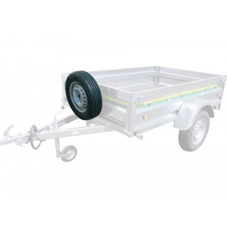 Support roue de secours pour remorque ESPACE EMERAUDE