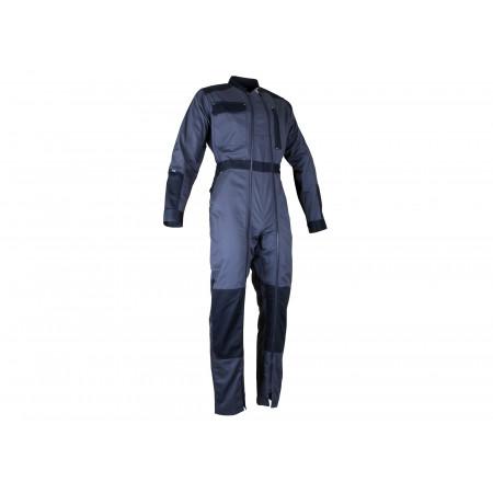Combinaison de travail double zip gris/noir