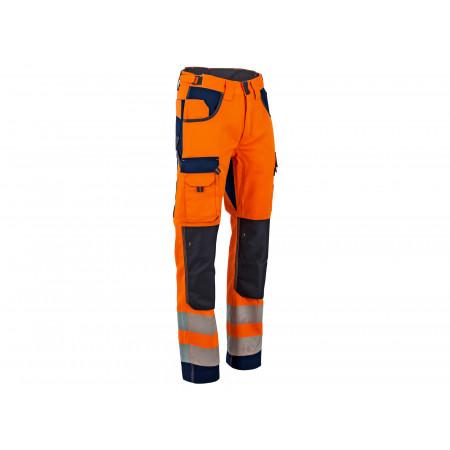 Pantalon Polarisation haute visibilité orange bleu