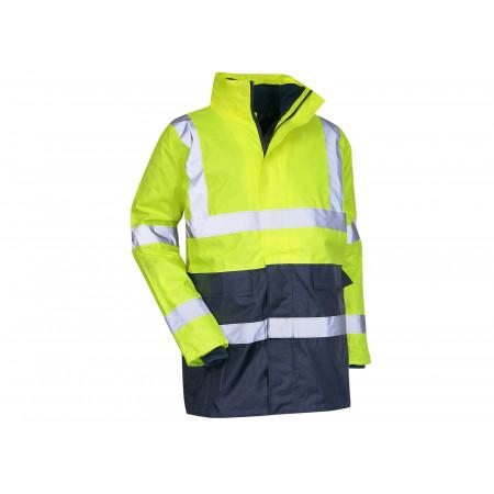 Parka haute visibilité 4en1 Classe 2 jaune fluo