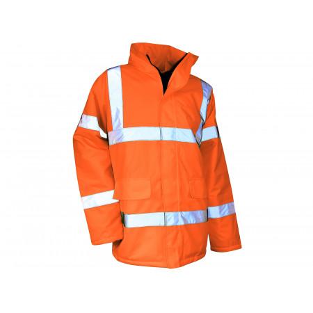 Parka haute visibilité imperméable coupe-vent Orange fluo