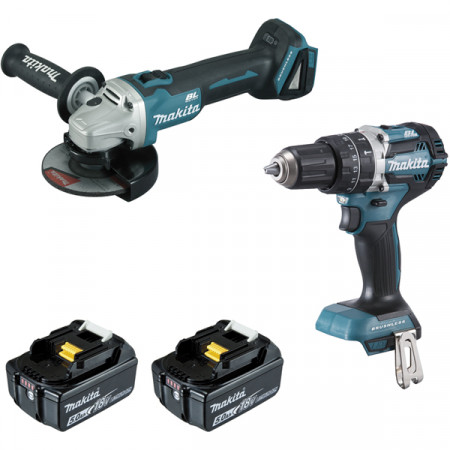 Pack MAKITA : perceuse à percussion + meuleuse sans fil 18V