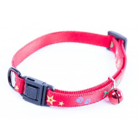 Collier chat à motifs Fish & Star rouge