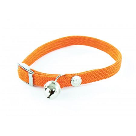 Collier chat élastique 10mm L.30cm orange