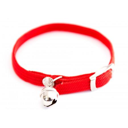 Collier chat élastique 10mm L.30cm rouge