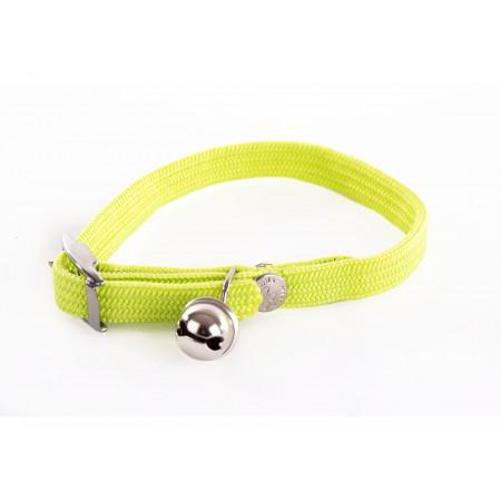 Collier chat élastique 10mm L.30cm vert