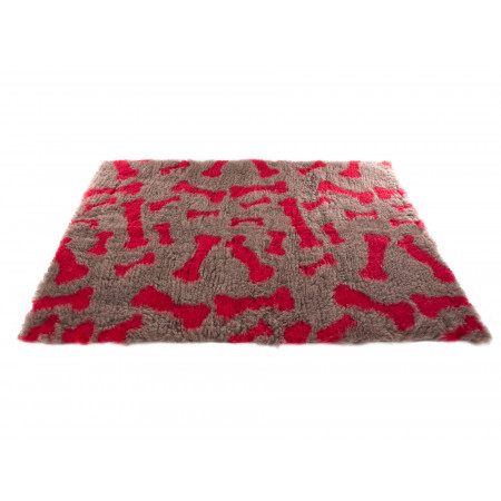 Tapis Petbed MARTIN SELLIER 50 x 75cm os beige/rouge