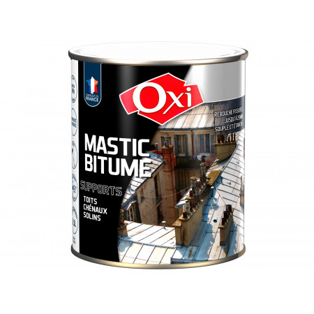 Mastic bitumé réparation toit 2,5L