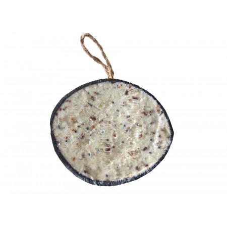 Demi-noix de coco graisse aux vers de farine