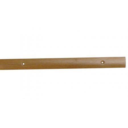 Barre de seuil acier percé chêne clair 30x830mm
