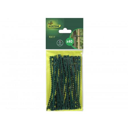 Liens plastiques verts 17cm x40