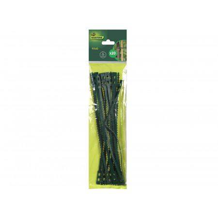 Liens plastiques verts 35cm x20