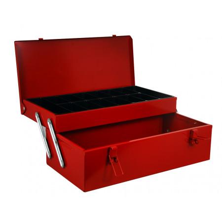 Boîte à outils métal 2 compartiments