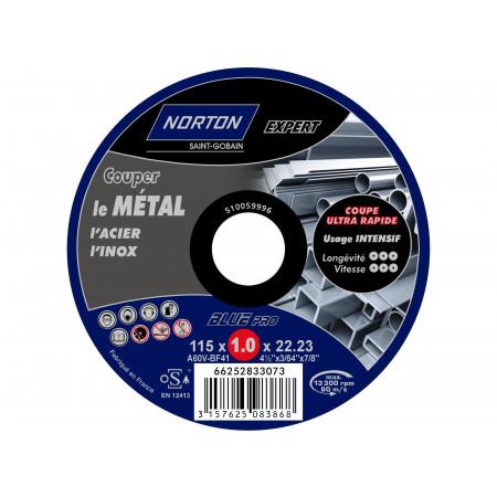 Disque à tronçonner plat Expert métaux Ø115 x1mm