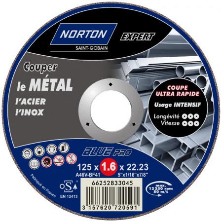 Disque à tronçonner plat Expert métaux Ø125 x1.6mm