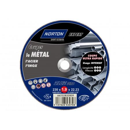 Disque à tronçonner plat Expert métaux Ø230 x2mm
