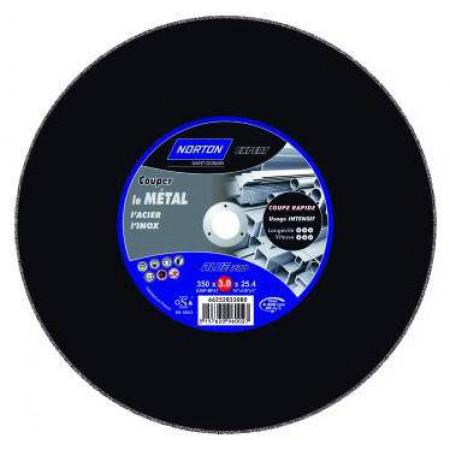 Disque à tronçonner plat métal/inox Ø350