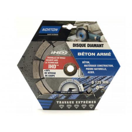 Disque diamant béton acier IHD Ø125x12