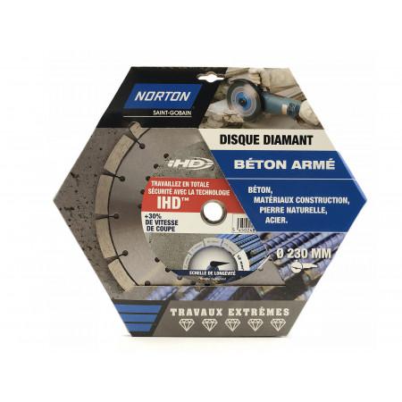 Disque diamant béton acier IHD Ø230x12