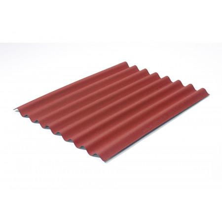 Plaque ondulée Easyline rouge intense 100x76cm