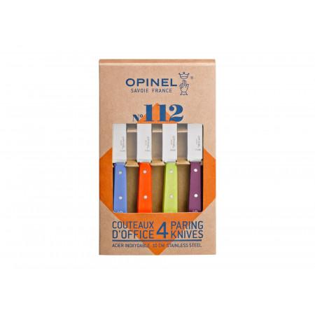 Coffret 4 couteaux d'office coloris acidulés OPINEL