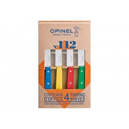 Coffret 4 couteaux d'office coloris classiques OPINEL