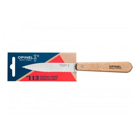 Couteau cranté n°113 hêtre OPINEL