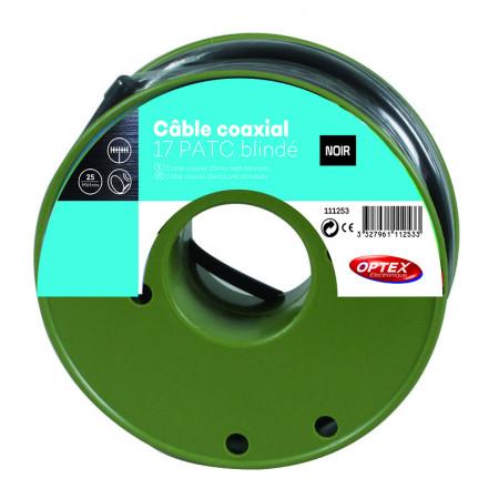 Cable coaxial 17 PATC noir 25m