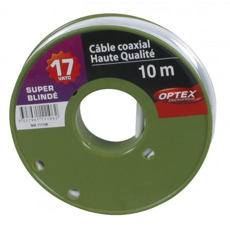 Câble coaxial TV/SAT 17 VATC blanc 10m
