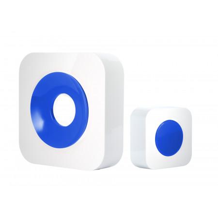 Carillon sans fil portée 200m blanc/bleu