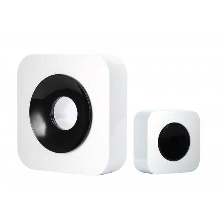 Carillon sans fil portée 200m blanc/noir