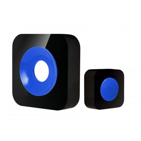 Carillon sans fil portée 200m noir/bleu