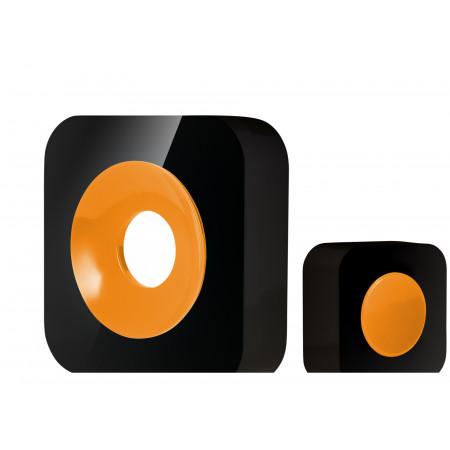 Carillon sans fil portée 200m noir/jaune