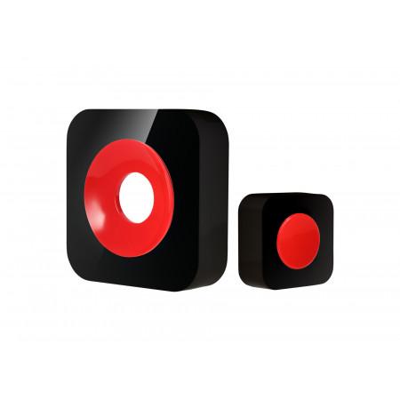 Carillon sans fil portée 200m noir/rouge