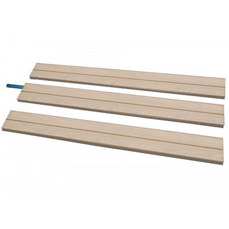Pack 3 lames clôture Boréale Original 1,95m moka