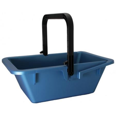 Panier de récolte rectangle bleu 16L