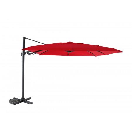 Parasol déporté 3x3m rouge