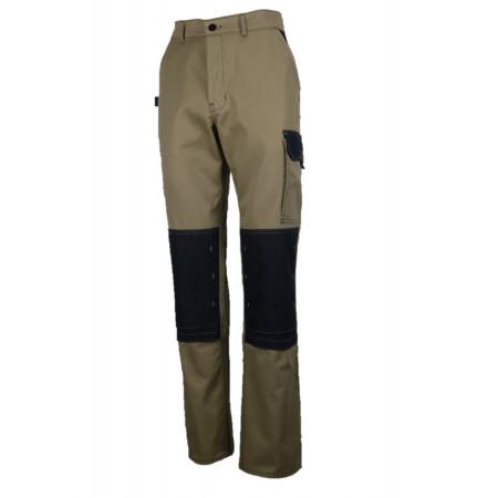 Pantalon de travail Typhon light Beige/noir